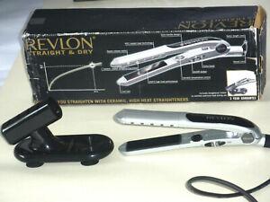 REVLON STRAIGHT & DRY CERAMIC HEATED HAIR STRAIGHTENERS  *VGC* HARDLY USED