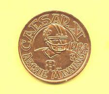 Archie Manning Token ~ 1984 Rare NFL Saint's Football Gladiator Coin