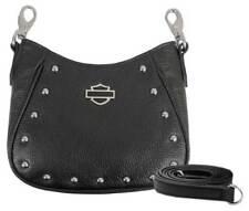 Harley-Davidson Women's Studded Rider Leather Saddle Hip Bag w/Strap RD4943L-BLK