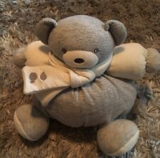 Kaloo Medium Chubby ZEN Bear Comforter Soft Toy with Scarf in Grey Hues ❤️