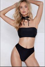 Nasty Gal Chocker Bardot Bikini Top - Size 6