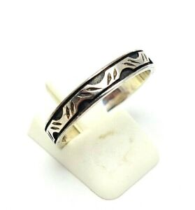 496.Unisex Bandring Silberring Inlay Ring 925er Silber RG.63 (20,0 mm Ø)