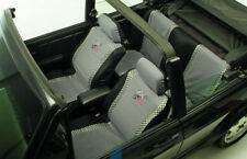 6PC UNIVERSAL CAR SEAT COVERS SET ALLRIDE GREY BLACK WASHABLE
