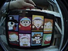 southpark metal lunch pail box red with black handle great condition!