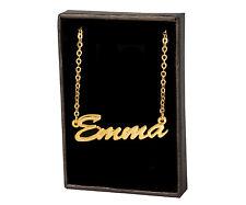 18k Plateó la Collar de Oro Con el Nombre - EMMA - Regalos Para las Mujeres