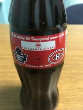 TORONTO MAPLE LEAFS VS CANADIENS 1999 FIRST GAME AT AIR CANADA COCA-COLA BOTTLE