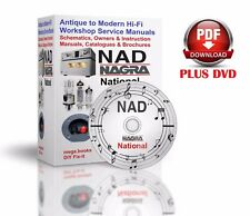 Nad Nagra National Hi-Fi antique to modern service owner schematics manuals DVD