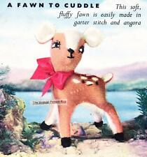 "VINTAGE FAWN 12"" / 4ply - COPY toy knitting pattern"
