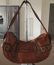 Fab Rich Tan SPORTSGIRL Bag Faux Leather Hobo Shoulder Handbag
