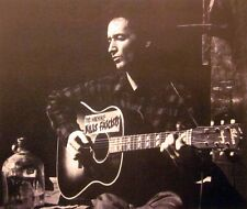 WOODY GUTHRIE clipping B&W photo Kills Fascists acoustic Gibson guitar 1940s
