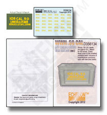 ECHELON FD D356134, 1/35  Decals for WWII .50 CAL M2 Ammo Box Labels (pt.5)