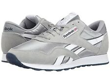 REEBOK 36088 CL NYLON Mn's (M) Platinum/Jet Suede/Nylon Lifestyle Shoes