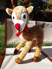 """Rudolph The Red-Nosed Reindeer Stuffed Plush, app. 34"""" tall 4 Display / Playroom"""