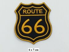 ROUTE 66 Biker Racing ,EMBROIDERED Iron on/Sew on PATCH/Badge