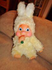 Bunny Sucks Thumb Sucking Yellow Rabbit Easter Pets Limited Plush Holding Carrot