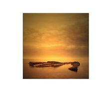 80x80cm Wandbild Auf Leinwand Minimalist Seascape With Sunrise Felsen Sinus  Art