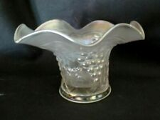 Northwood Glass White Carnival Grape Arbor 'Hat'