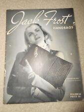 1945 WWII Homefront Home Front Jack Frost Handbag Purse Crochet Pattern Book