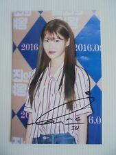 IU Lee Ji Eun KPOP Korean Actress 4x6 Photo Autograph hand signed USA Seller D5