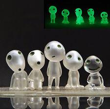 5pcs Miniature Elves Luminous Fairy Mononoke Forest Spirit Kodama Glow In Dark