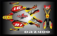 Suzuki DRZ400 DRZ 400  SEMI CUSTOM GRAPHICS KIT AJ5