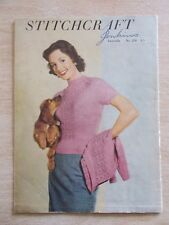 Stitchcraft #220~Knit~Crochet~30pp~Patterns~Vintage
