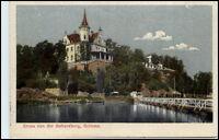 Gruss von der Gattersburg GRIMMA Sachsen AK 1922 Color Ansicht Außen-Partie