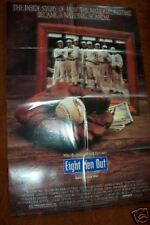 EIGHT MEN OUT     1988  Baseball movie poster folded