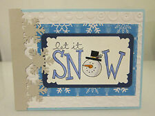 Stampin Up BIG ON CHRISTMAS, LET IT SNOW Handmade Card