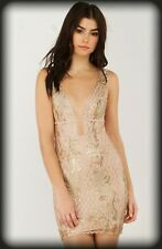 AKIRA GORGEOUS GOLD SPARKLY HOLIDAY DRESS NEW MED