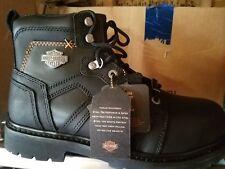 Harley-Davidson Men's Chad Steel Toe 5-In Black Motorcycle Boots. D93176