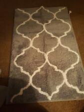 Homcomoda 2 Piece Bath Rugs Set Microfiber Washable Mats Contour Toilet gray