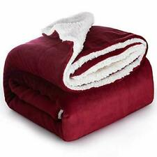 New ListingBedsure Sherpa Fleece Blanket Bed Throw Soft & Cozy Red 50 x 60