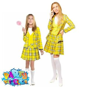 Adult Kids Clueless Cher Costume TV Film World Book Week Day Fancy Dress Outfit