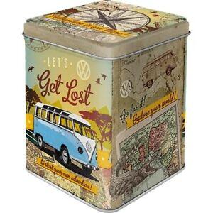 Tea Container VW Bulli Tea Classic Storage Jar Metal Hoard Box Metal New