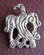 Authentic Ancient Artifact > Viking Silver Borre Style Raven Pendant VK 70