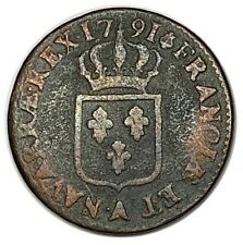 LOUIS XVI Sol à l'écu 1791 A LEOPARD