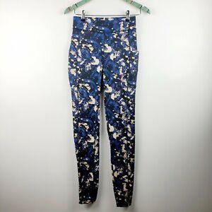 Pop Fit Women's Blue Camo Leggings 2 Large Pockets Very Nice! Size Medium NWOT