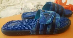 Adidas, Massage Slippers/Beach Sandals, Color: Blue, Size:UK-10, Used