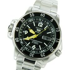Seiko JAPAN Made Map Meter Black Atlas/Land Shark 200M Men's Watch