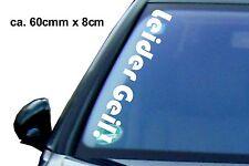 1x Leider Geil Aufkleber 60x8 cm Auto Tuning Sticker Shocker FUN Pkw  Autotatto