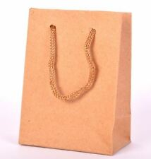 12 Pcs Luxury Party Brown Bags Kraft Paper Gift Bag Handles Recyclable Loot Bag