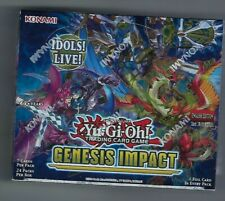 Genesis Impact Booster Box Yugioh trading card game 1st edición Konami inglés