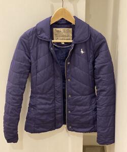 Jack Wills Navy Thin Puffer Womens Jacket UK 6/US 2 winter
