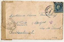 COVER NASHUA NEW HAMPSHIRE UNITED STATES TO SWITZERLAND. 1918.
