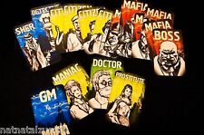 Role+ Mafia Game Cards with Maniac Prostitute Boss Sheriff Detective Doctor