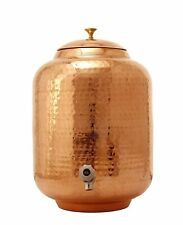 Hammered Copper Water Dispenser Container Pot Tank Matka, Storage Water 18 LTR