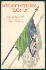 Militari Reggimentali VI° Reggimento Fanteria Aosta Boeri cartolina XF4283