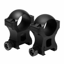 "NCSTAR VR1H13 PAIR BLACK 1"" RIFLE SCOPE RINGS 1.3"" HEIGHT WEAVER PICATINNY 1913"