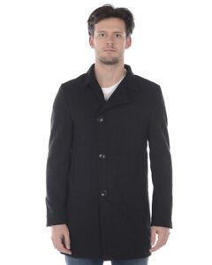 Cappotto Daniele Alessandrini Jacket Coat MADE IN ITALY Uomo Nero X908M5343907 1